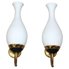 Italian Pair of Wall Sconces After Stillnovo