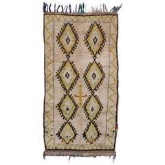 Vintage Berber Moroccan Azilal Rug with Post-Modern Tribal Style