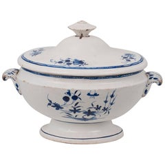 Blue and White Soup Tureen from Tournai, Belgium