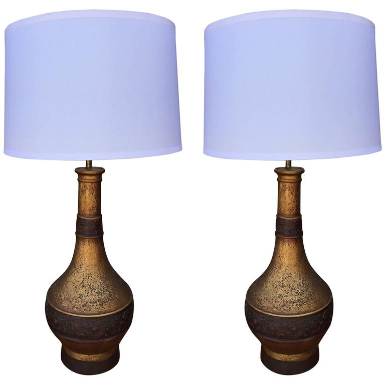 Pair Of Monumental Table Lamps For Sale At 1stdibs