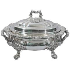 English Regency Sumptuous Sheffield Plate Soup Tureen