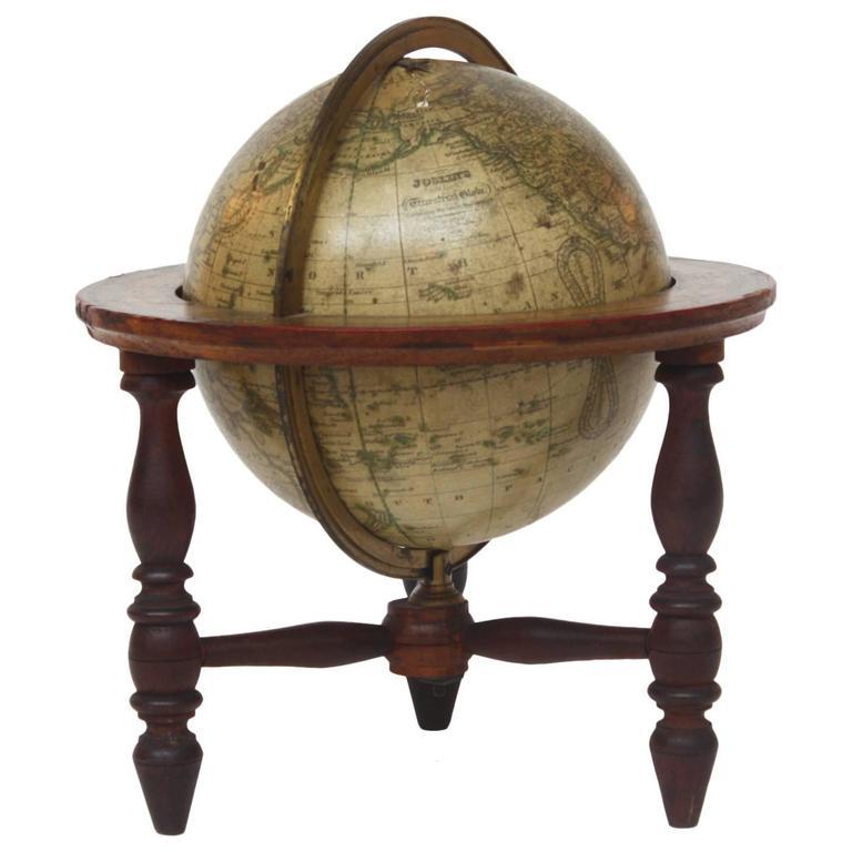 Terrestrial Globe by Gilman Joslin - Pair Of Antique Desk Globes By Newton At 1stdibs