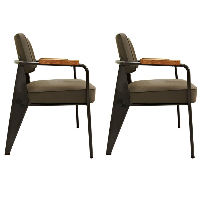 Jean Prouve Pair of Limited Edition Armchairs by G-Star for Vitra