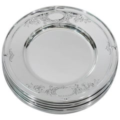 Set of 12 Gorham Portsmouth Sterling Silver Bread and Butter Plates