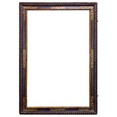 Dramatically Large Carved, Gilded and Polychrome Spanish Baroque Frame