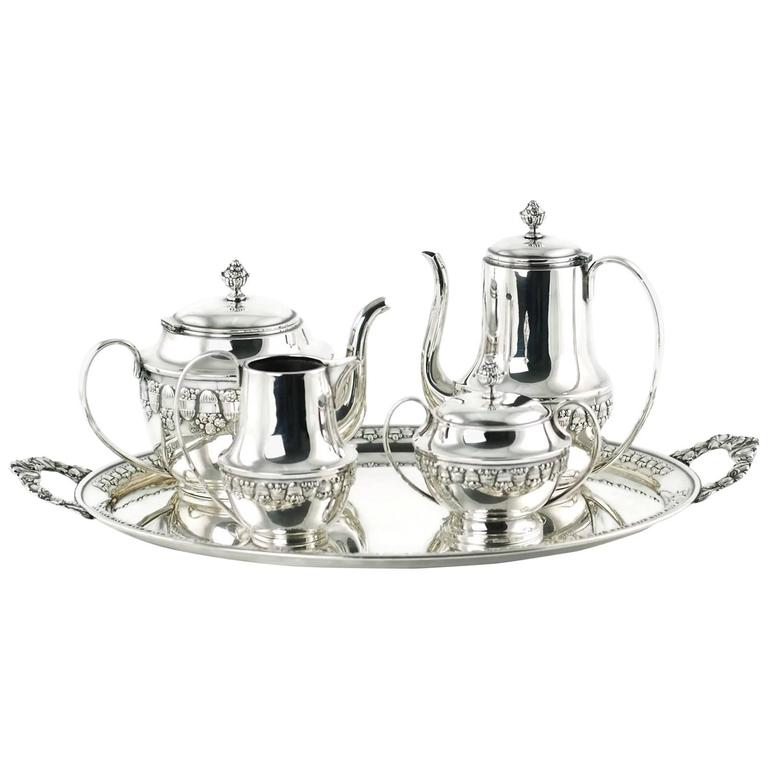 Wolkenstein u0026 Glückselig Silver Plated Tea Set after Emanuel Josef Margold For Sale  sc 1 st  1stDibs & Wolkenstein and Glückselig Silver Plated Tea Set after Emanuel Josef ...