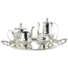 Wolkenstein & Glückselig Silver Plated Tea Set after Emanuel Josef Margold