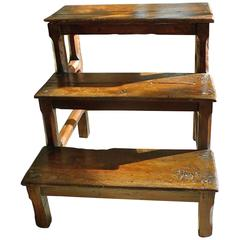 French 19th Century Small Three-Step Ladder