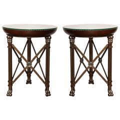 Pair of Circular Side Tables by Maitland-Smith
