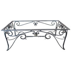 French, 19th Century Wrought Iron Coffee Table Frame