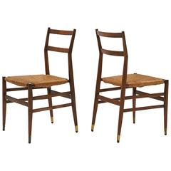 "Pair of ""Superleggera"" Chairs by Gio Ponti"