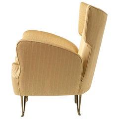Elegant Italian Modern Yellow Armchair by Isa Bergamo, 1950