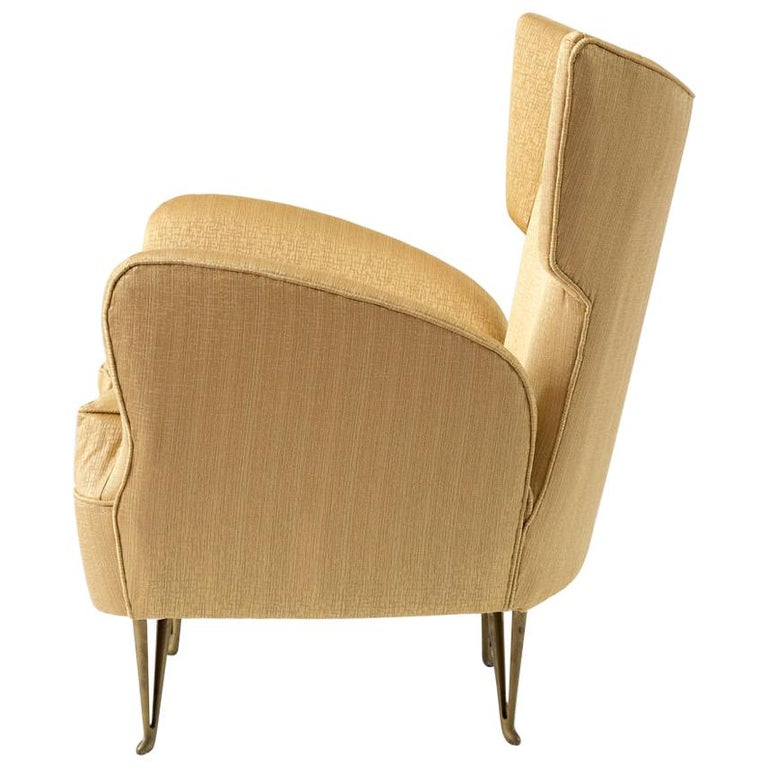 Elegant Italian Modern Yellow Armchair by Isa Bergamo, 1950 For Sale