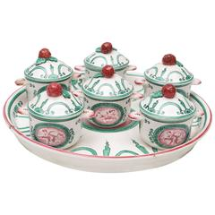 Faience Pot De Creme Dessert Set