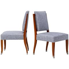 Maison Leleu, Pair of Side Chairs, France, circa 1960