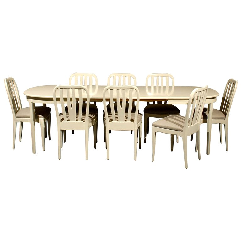 Mid-Century Modern Dining Chairs and Table by Carl Malmsten