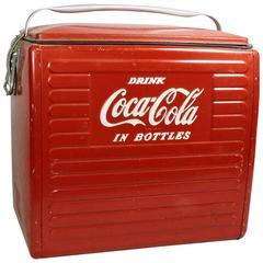 Vintage Drink Coca Cola in Bottles Picnic Cooler by Acton Mfg Co.
