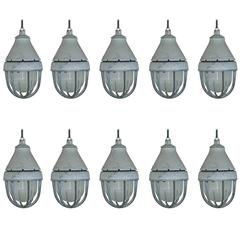 Large Crouse Hinds Vapor Proof Industrial Pendants