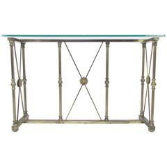 Hollywood Regency Italian Console Table by Mastercraft