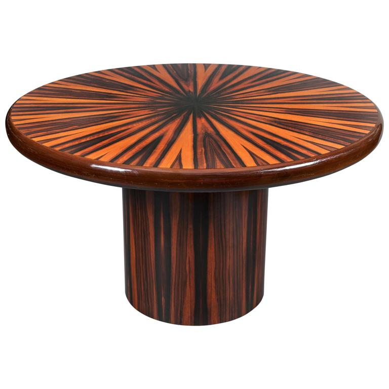 Italian Zebrawood Round Center Table