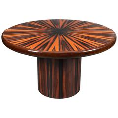 Italian Zebrawood Round Center Table