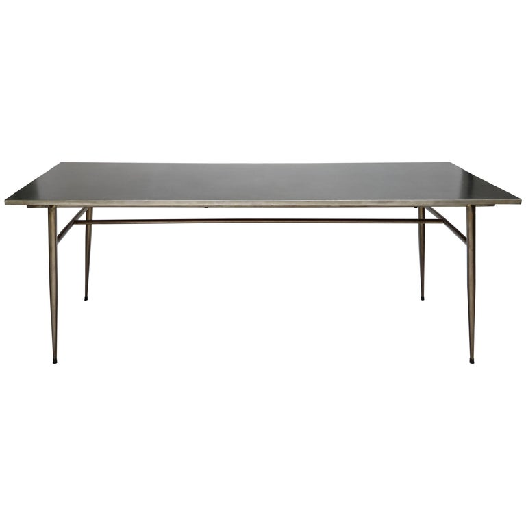 Industrial 1950s Steel Dining Table