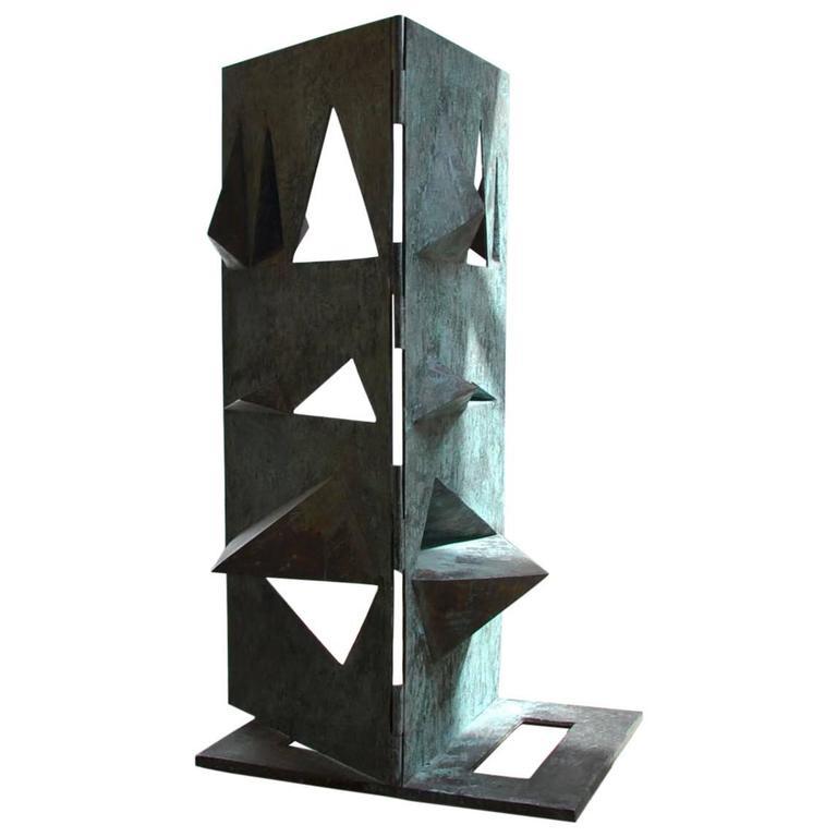 Bronze Sculpture Titled 'Comparison' by Toni Fabris, circa 1972 For Sale