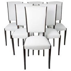 Set of Six French Art Deco Dining Chairs