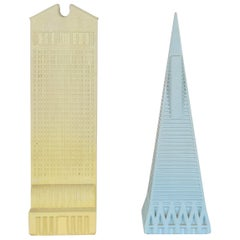 Two Model Skyscrapers designed by Johnny Dell'Orto for La Fabbrica di Dedalo
