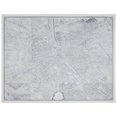 Large Map of Paris, France