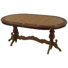 20th Century Middle Eastern Style Inlaid Oval Dining Table