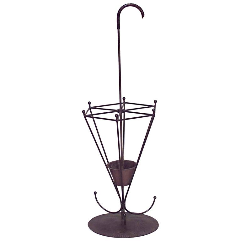 American Mission Wrought Iron Umbrella Stand For Sale At 1stdibs
