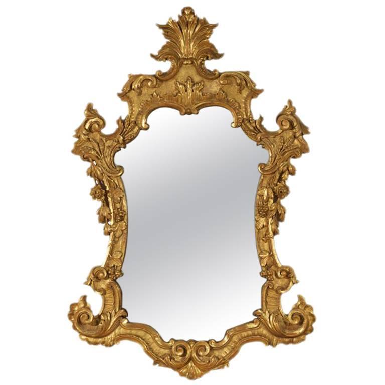 Louis XV Gilt Wood Mirror