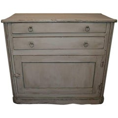 Rustic Painted Pine Country Chest