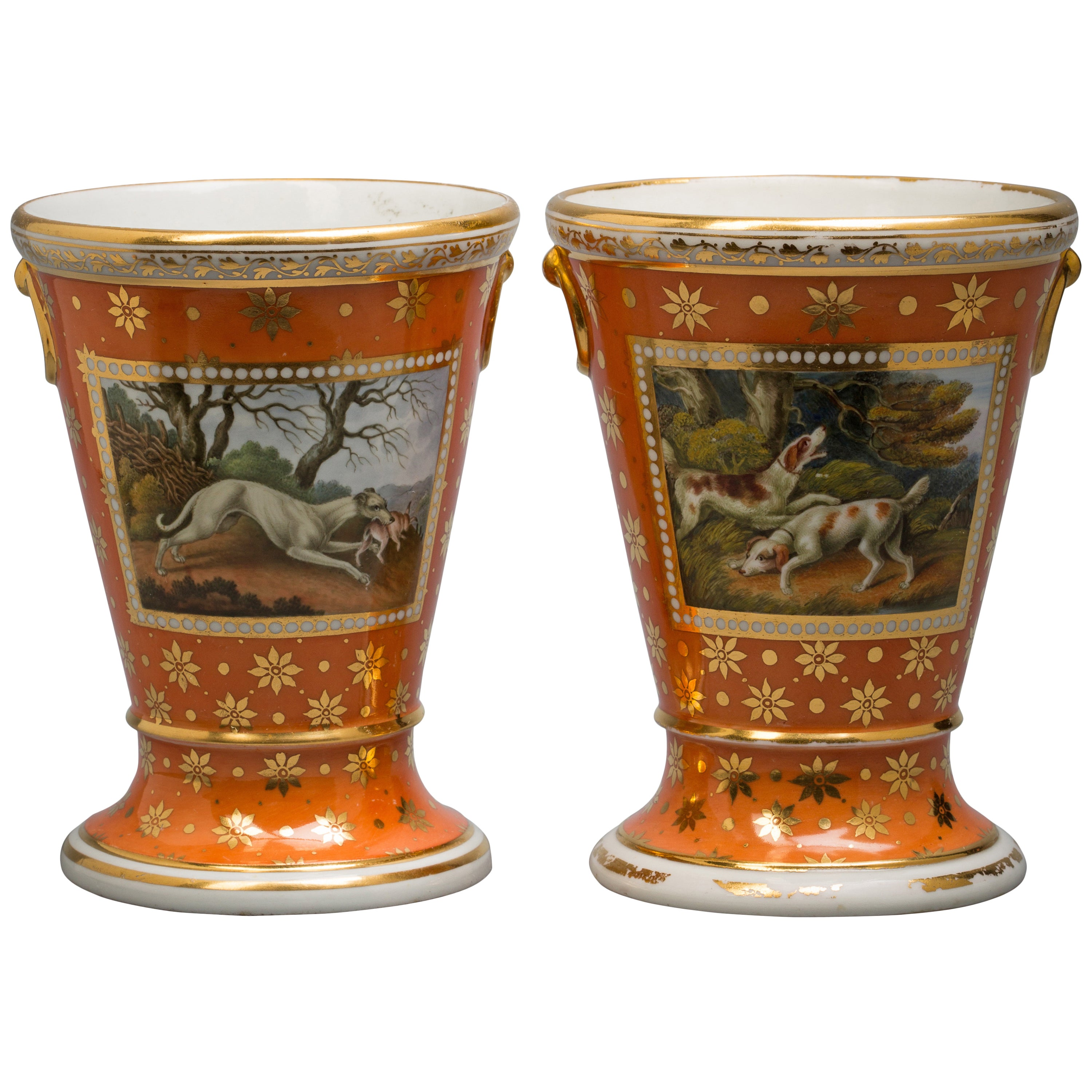 Pair of English Porcelain Cachepots, Flight and Barr, circa 1800