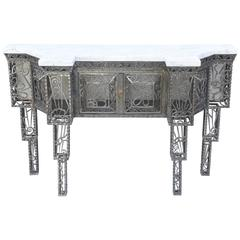 Art Deco Console in the Manner of Edgar Brandt