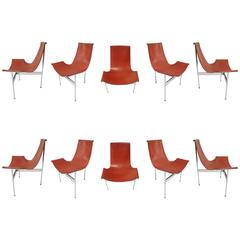Ten T-Chairs in Original Condition by Katavolos, Kelly, Littell for Laverne 1967