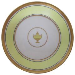 Italian Plate by Richard Ginori with Decorative Urn Detail