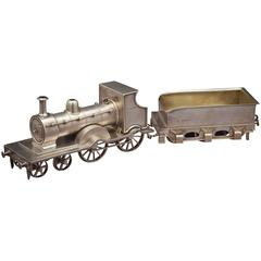 Victorian Silver Gilt Locomotive