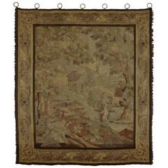 Late 19th Century Antique French Tapestry Wall Hanging with Old World Charm