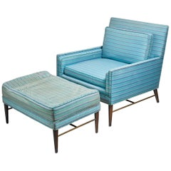 Paul McCobb Lounge Chair with Ottoman for Calvin, American, 1950s