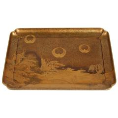 Japanese Gold Lacquer Tray