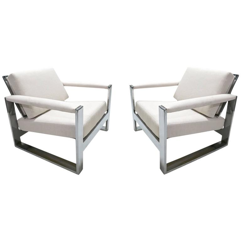 Pair of Lounge Chairs circa 1970 France