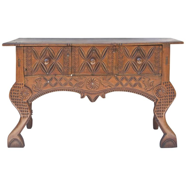 Central American Nahuala Console / Front Hall Table