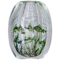 1950s Swedish Edward Hald Fish Vase
