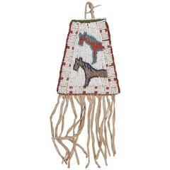 Antique Native American Beaded Bag Sioux, 19th Century