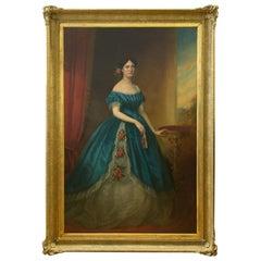 George Buckley (English, 1823-1870), oil on canvas full length portrait