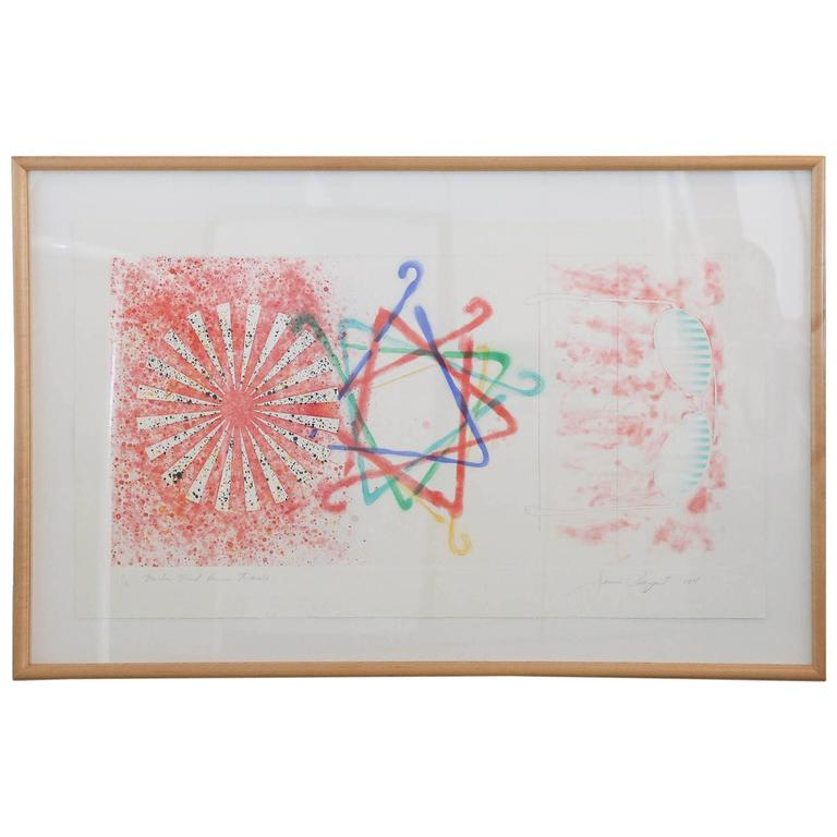 Signed & Numbered James Rosenquist, Number Wheel Dinner Triangle, 1978