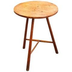 Circular Maple/Ash Cheese Board Table, English or Welsh, circa 1750 In Stock