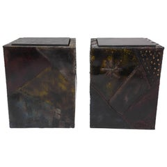Paul Evans Welded Metal Cubes